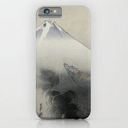 Dragon Rising to the Heavens at Mount Fuji by Ogata Gekko iPhone Case