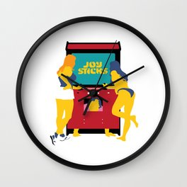 Joy Sticks Wall Clock