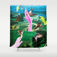 thrones Shower Curtains featuring Do androids dream of electric sheep? by Laura Nadeszhda