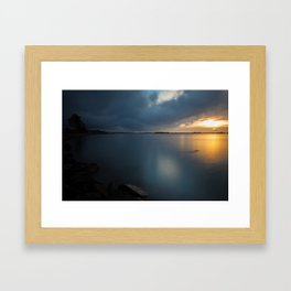 Along The Elk Framed Art Print