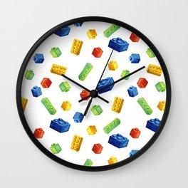 Building Blocks Pattern Wall Clock