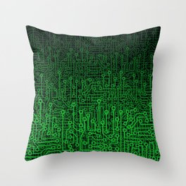 Reboot II GREEN Throw Pillow