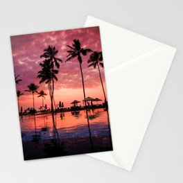 Paradise Sunset Tropical (Color) Stationery Cards