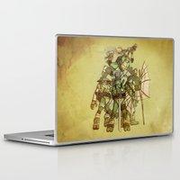 ninja turtles Laptop & iPad Skins featuring Steampunk Ninja Turtles by Wiley Illustration