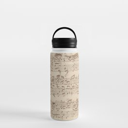 Old Music Notes - Bach Music Sheet Water Bottle