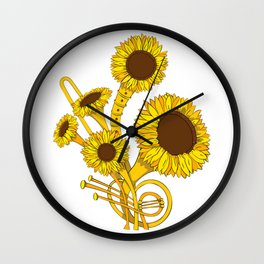 Sunflower Orchestra Wall Clock