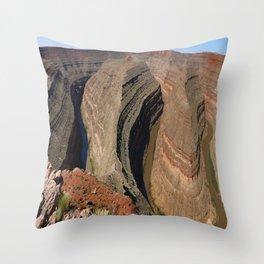 The Goosnecks - A Meander Of The San Juan River Throw Pillow