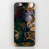 thanos iPhone & iPod Skins featuring Thanos: Infinity Gauntlet  by MATT DEMINO