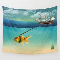 volkswagen Wall Tapestries featuring  THE WAY  by mark ashkenazi