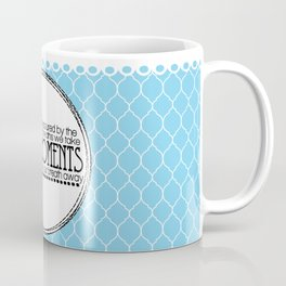 Life is Measured-Blue & White Coffee Mug