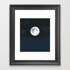 Blue Moonscape Framed Art Print