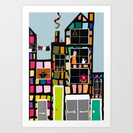 At Home In The City Art Print
