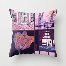 summer is ended Throw Pillow