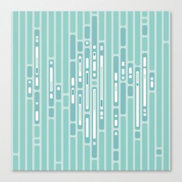 Ocean Reflection – Blue / Teal Midcentury Abstract Canvas Print