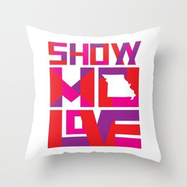 Show MO Love - Pink Throw Pillow