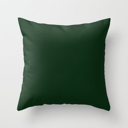 Simply Tree Green Color Throw Pillow