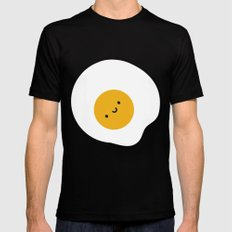 Kawaii Fried Egg Mens Fitted Tee Black SMALL