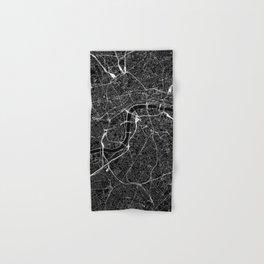 London Black Map Hand & Bath Towel