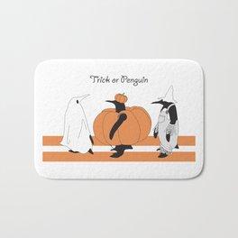 Funny Penguin Halloween Bath Mat