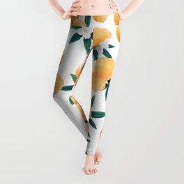 Orange Twist Flower Vibes #6 #tropical #fruit #decor #art #society6 Leggings