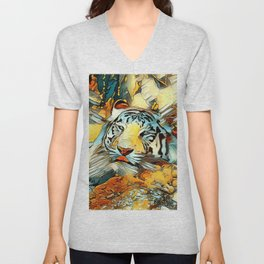 AnimalArt_Tiger_20170603_by_JAMColorsSpecial Unisex V-Neck