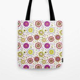 Amelia's Circles White Tote Bag