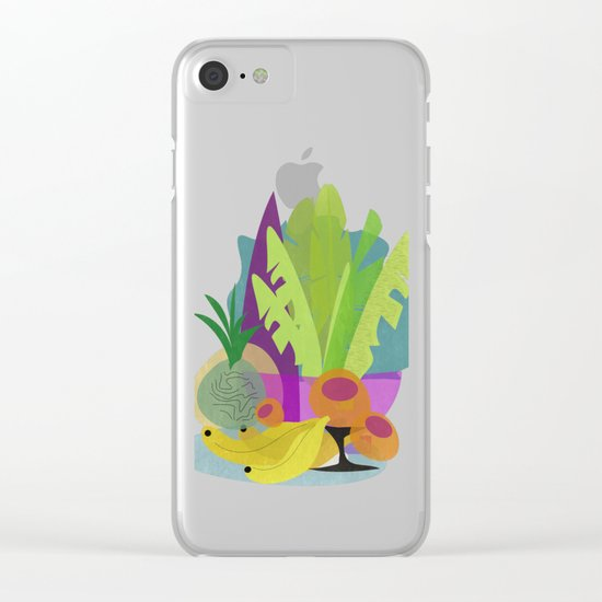 Tropical Breakfast Clear iPhone Case