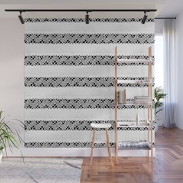 Stripes of antique rustic lace Wall Mural