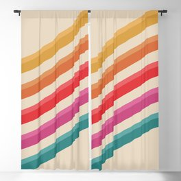 Retro Pattern - Rolling Hills #809 Blackout Curtain