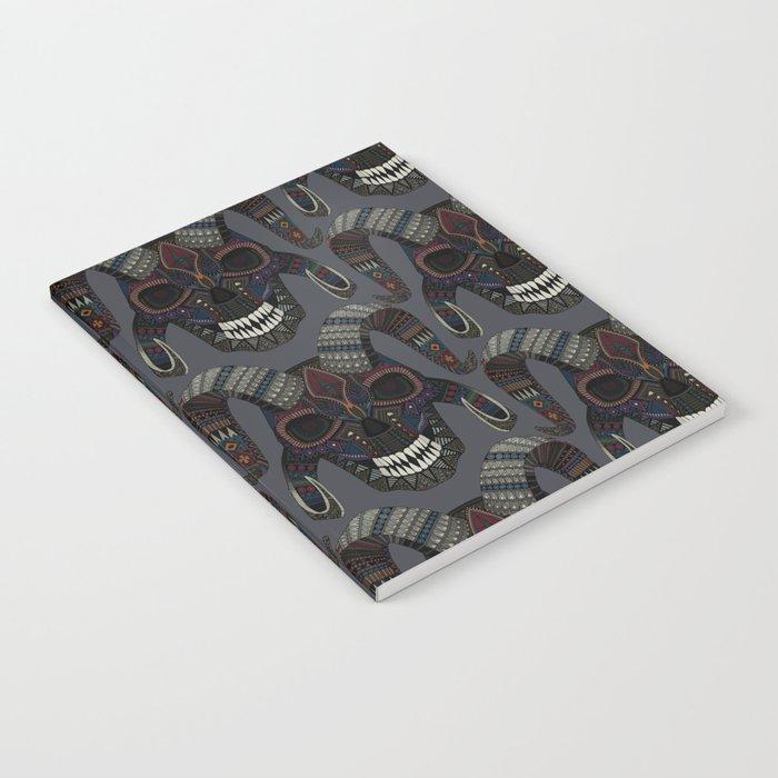 demon skull charcoal Notebook