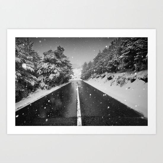 """The road"". Bw Art Print"