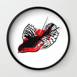The Red Bird Wall Clock