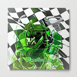 Fearless Finish Metal Print