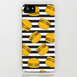 Burger Stripes By Everett Co iPhone Case