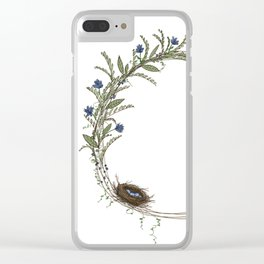 Spring Wreath Clear iPhone Case