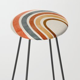 Abstract Rainbow 88 Counter Stool