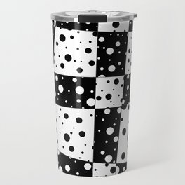 Holes In Black And White Travel Mug