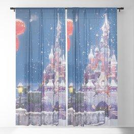 Winter fairy tale Sheer Curtain