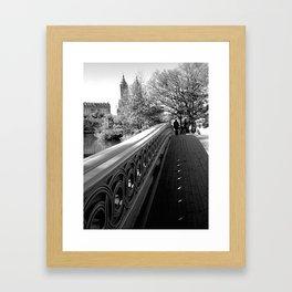 Just walking... Framed Art Print