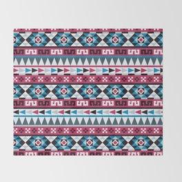 Aztec Geometric Pattern Throw Blanket