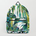 nature leaves exotic watercolor I by mmartabc