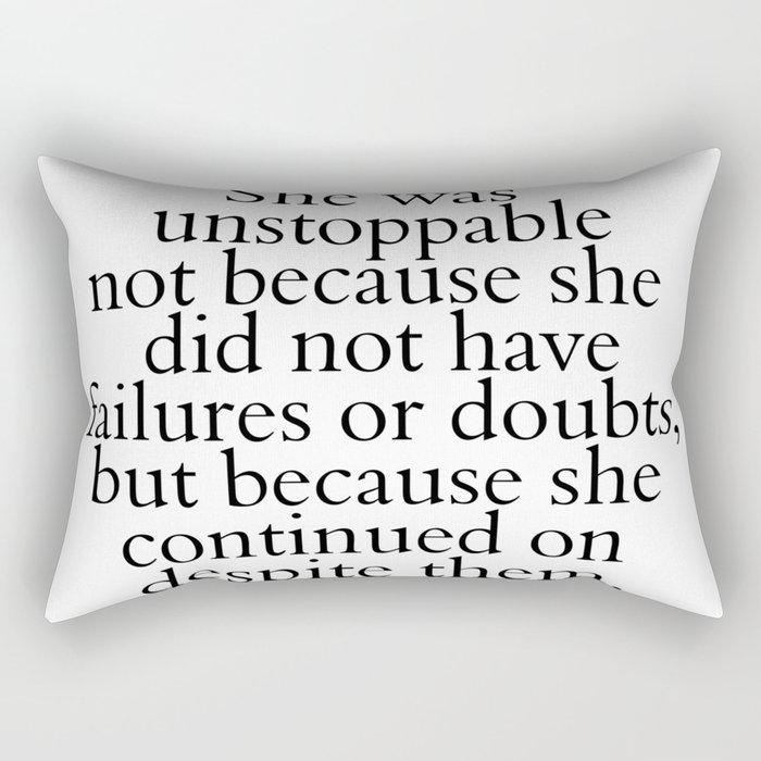 Unstoppable Rectangular Pillow