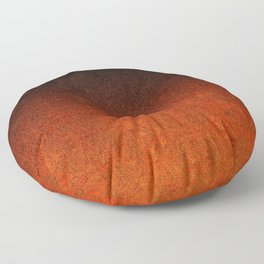 Orange & Black Glitter Gradient Floor Pillow