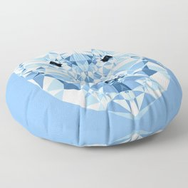 Diamond Polar Bear Floor Pillow
