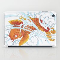 koi fish iPad Cases featuring Koi Fish by Give me Violence