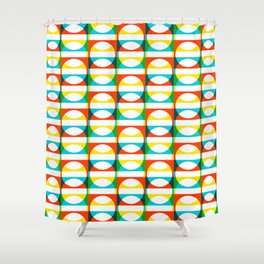 Geometric Pattern #171 (colorful circle squares) Shower Curtain