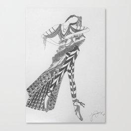 Dancer Series - Basquette Canvas Print