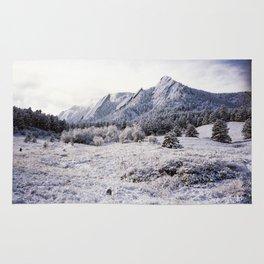 Winter Flatirons 35mm Rug