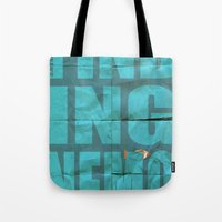 finding nemo Tote Bags featuring Finding Nemo by Garrett McDonald