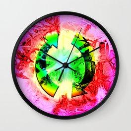 Twi-dye Wall Clock